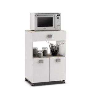 Küchenwagen 145 AKAZIE - WEISS ♥  ♥ Küchentrolley ♥ 1 x Schublade ♥  2 x Tür ♥ 1 x Ablage  ♥ Küchenwagen Weiß Holz ♥ 20 kg