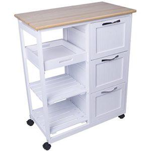 Küchenwagen aus Holz ♥ 3 x Schubladen ♥ 1 x Schubkästechen ♥ 2 x Einlagen ♥ Küchentrolley ♥