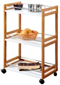 Kesper 25796  Küchenwagen Bambus  ♥ 2 x  große Ablageflächen ♥ Kesper Küchenwagen ♥ 6 kg