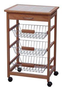 Archimede Küchenwagen ♥ Schneidebrett ♥ Ausziebare Körbe ♥ Schublade ♥ Küchenwagen Holz ♥