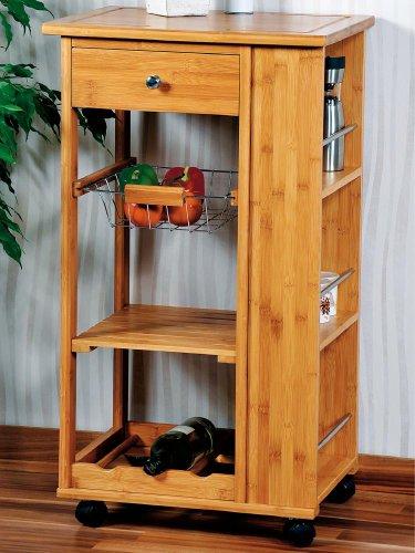 KÜCHENWAGEN BAMBUS — Kesper Küchenwagen, Servierwagen, Rollwagen, Küchentisch, aus Bambus