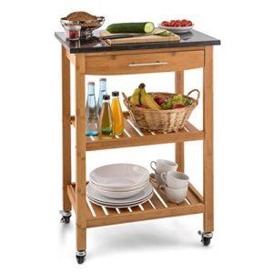 Klarstein Tennessee Küchenwagen ♥ 3 Etagen: zwei Ablagen und eine Schublade